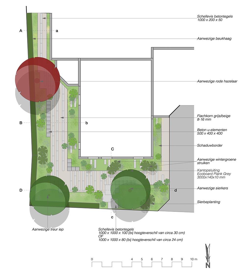 tuinontwerp-tuinadvies-tuinarchitect-tuinaanleg-hovenier-tuinontwerper-Toffe Tuinen-Laura Knoops-voortuin-Winssen-schaduwtuin-beplantingsplan